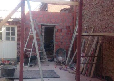 Beton gieten en metselwerk